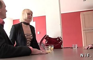 Inexpert Mr Big french adult eternal anal onslaught sex choked with regard to triple