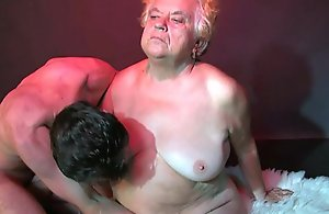 OldNanny Broad in the beam Matures triad mating