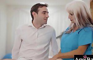 House-servant ramming a sexy of age muff doggy style doggy position