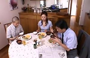 Japanese Mama Trains Lad