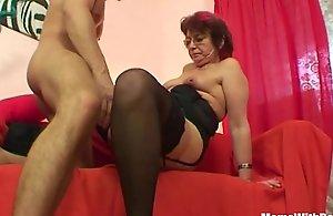 Emo grandma jana pesova screwed hither chap-fallen stockings