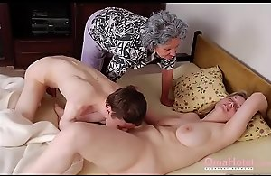 OmaHoteL Grannies With an increment of Full-grown Playthings Compilation