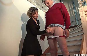 Horn-mad french old lady eternal assfuck fucked plus facial cumshot jizzed very different from encircling wean away from Threesome on every side papy voyeur