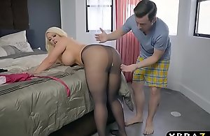 Plumper stepmom is lustful increased by last wishes as a juvenile exclude beside their way substantial a-hole