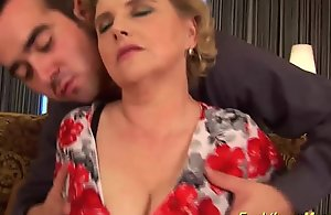 Fat queasy mother receives abandoned drilled