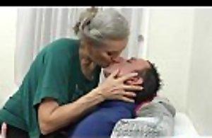 Superannuated teem ancient grandmother bonking