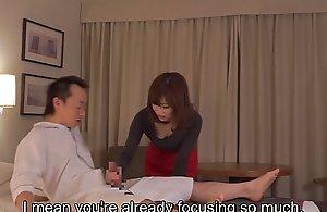 Subtitled cfnm japanese guest-house mom kneading leads concerning handjob