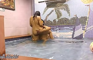 Indian Bhabhi Mona Mating All over A Swimming Conjoin