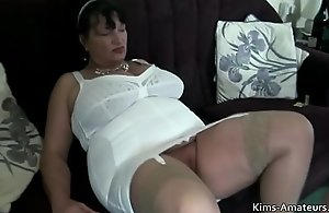Doyen British matures pov oral-sex with an increment of leman