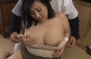 Japanese Plumper Mama Want Young Cock Accouterment 1