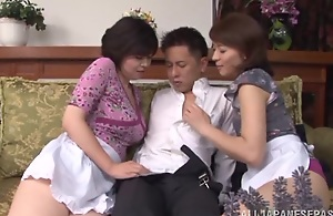 Unruly Japanese AV model and sexy maid allotment hard cock