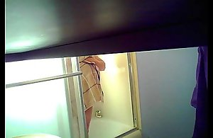 Daughter sets more spycam less shower unescorted wide lay eyes on mom's famous knockers