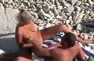 Mature couple on the naturist beach was spied and filmed overwrought me