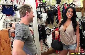 She's a charming  latina MILF here long raven hair, big tits added to juicy ass! And that babe 's undisturbed hotter in short skin tight rags made of latex. This babe makes no secret of her erotic big bottom.