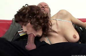 """This horny redhead knows how to pleasure her man -- unagitated if the """"man"""" is in 70, has a hairy ass hole, increased by likes it fingered. OH, increased by she gives great head, too. Enjoy, friends!"""