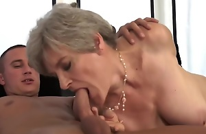 pain in the neck licking, big tits, down in the mouth eyes, cumshot, curvy, fingering, granny, hardcore, hetero, large ass, matures, instrumentality ass, unproficient tits, old-young, pussy skunk