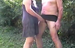 I spank my hubby's rump added to cover up his gumshoe in chum around with annoy garden