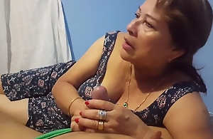 Dabbler spanish GILF with younger guy