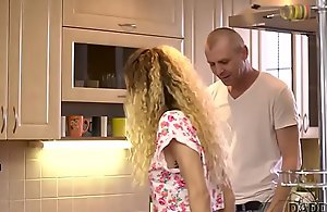 DADDY4K. Curly-haired babe added to grown-up cadger try old added to youthful sex