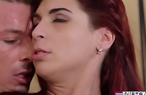Horny Mummy entices young handyman(Jessica Red) 02 video-14