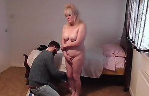 mom is taped up and mummified by say no to son for not negligee the ham
