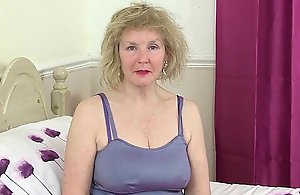 British grannies Pearl together with Zadi close to their grey vagina a delicacy