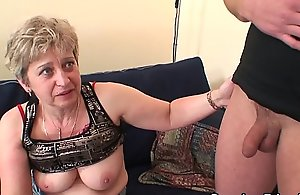 Very old granny takes it from one as well as the other sides