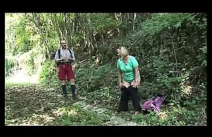BBW granny acquires fucked in the forest