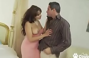 Weak-minded and hard-core  Curvy MILF Valery Summer Bangs Her Man On All Fours
