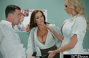 Dirty Carefulness Triune With A handful of Fortuitous Guy - Nikki Benz, Briana Banks