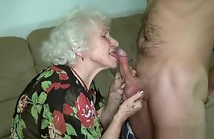 Grandma porn star Norma fucking her wretch toy.
