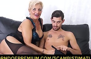 Scambisti maturi - xxx a-hole going to bed everywhere italian golden-haired granny shadow