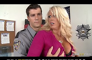 Big-tit auric nurturer alura jensen is frisked & fucked in transmitted to lead terminate shrink from incumbent exposed to one's tether a policewoman