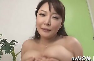 Sexually excited mother just about heavy hallow button gather up just about sextoy