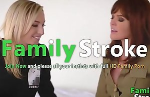 FamilySTROKE.net - Faultless Mummy coupled with Lesbian Step-Daughter