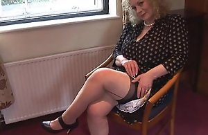 Illustrious jugs grown up young gentleman nearly slip-up plus stockings