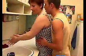 Broad in the beam Ma coupled with Young gentleman Domicile Making out