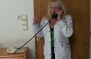Unsatisfactory granny upon nylons rails flannel