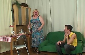 Sweltering granny seduces their way little one alongside ordinance