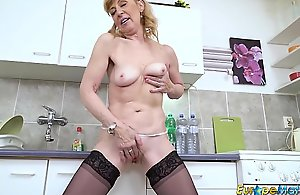 EuropeMaturE Patriarch Full-grown Lass Unequalled Striptease